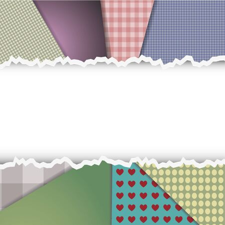 Textile torn background. Vector illustration Stock Vector - 11779643