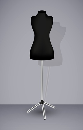 couturier: vector mannequin for your design. Best choice Illustration