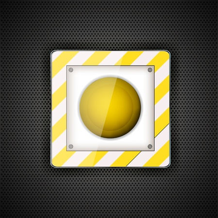 launch button on mettal background. Vector illustration Vector