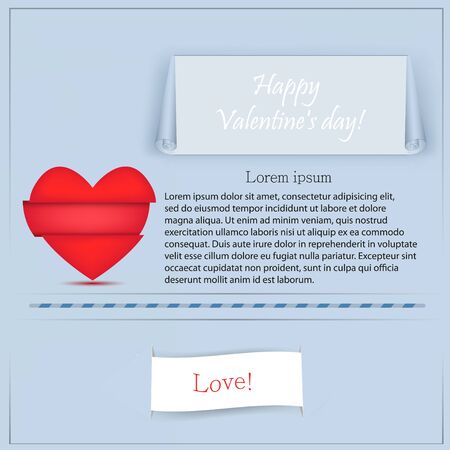 valentines day page for your design. Vector illustration Vector
