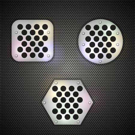 metal grid background. Vector illustration Stock Vector - 11779663