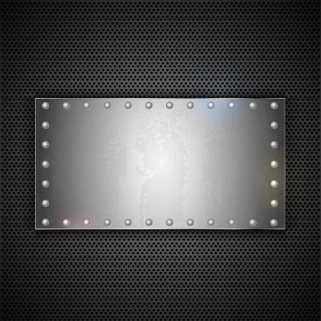 plaque d'acier avec la place pour votre texte. Fond de métal Vecteur