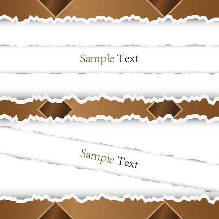 Torn abstract background with place for your message. Vector Stock Vector - 11864083