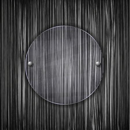 haltbarkeit: Kreis Glas auf Metall Grunge Hintergrund. Vector illustration Illustration