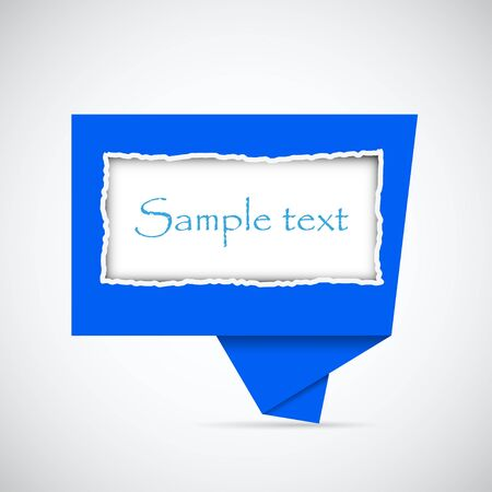 Vector blue buuble speech with place for your text. Best choice Vector