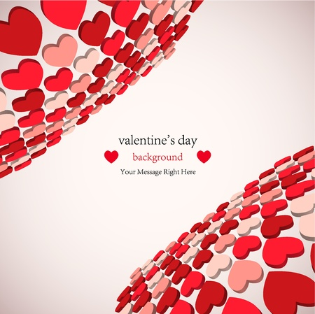 3d valentines day background for your business. Vector illustration. best choice Vector