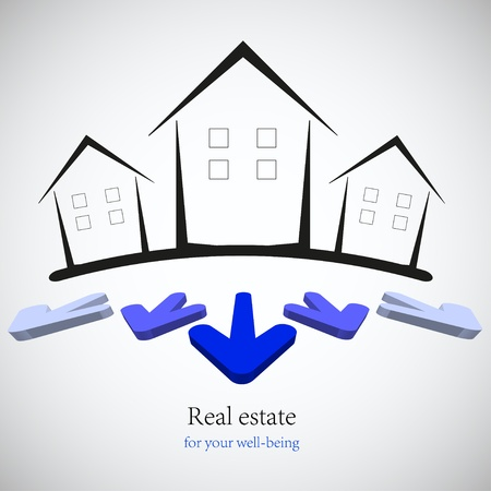 concept real estate for your business. Vector illustration. Best choice Vector