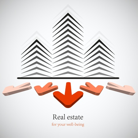 estate: Concept real estate for your business. Vector background. Best choice