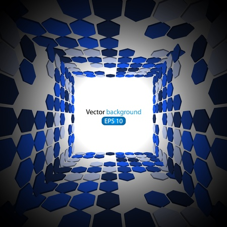 3d blue business abstract background. Vector illustration Stock Vector - 11938127