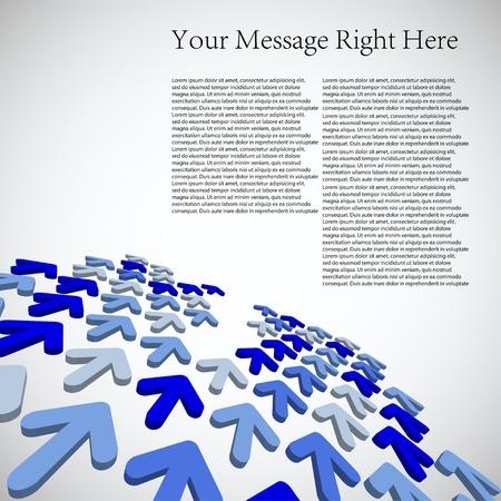 3d affaires flèche pour votre entreprise. Vector illustration. Le meilleur choix Vecteurs