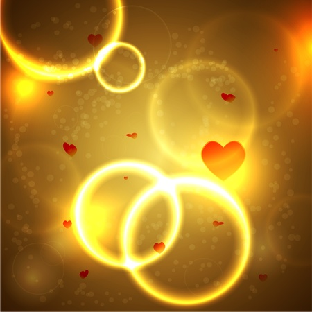 Magic background with hearts for valentines day. Vector illustration. Best choice Vector