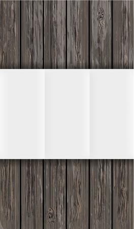 western wall: wooden board with paper. Vector background with place for your text