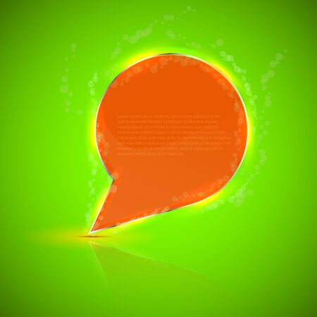 creative abstract bubble speech with place for your text. Vector illustration Vector