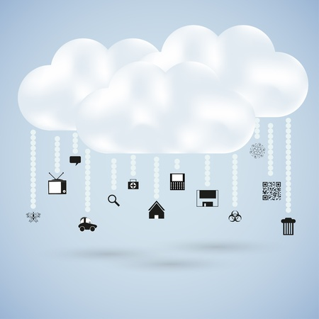 clouds with web icons. Vector illustration Stock Vector - 11990012