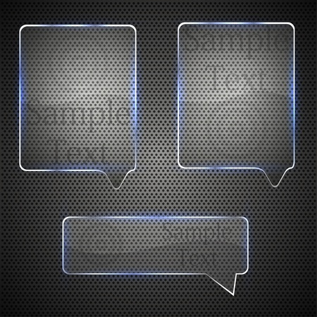 glass bubble speech on metal grid. vector illustration Stock Vector - 12009521