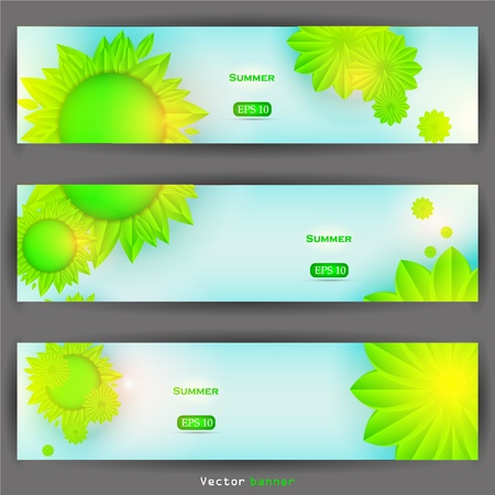Vector floral banner set Stock Vector - 12028478