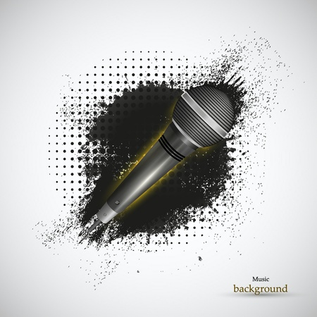 abstract music background. Vector illustration. Eps 10 Vector