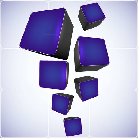 cube abstract background. vector illustration Vector