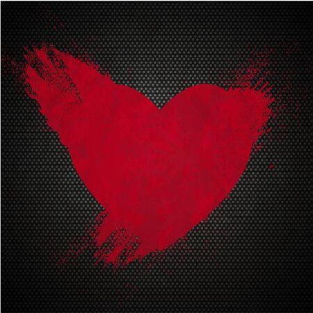 spot in the form of heart. Vector illustration Vector