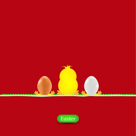 Easter background. Vector illustration Vector