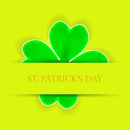 St. Patricks day applique. background Vector
