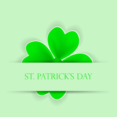St. Patrick's day applique. background Vector