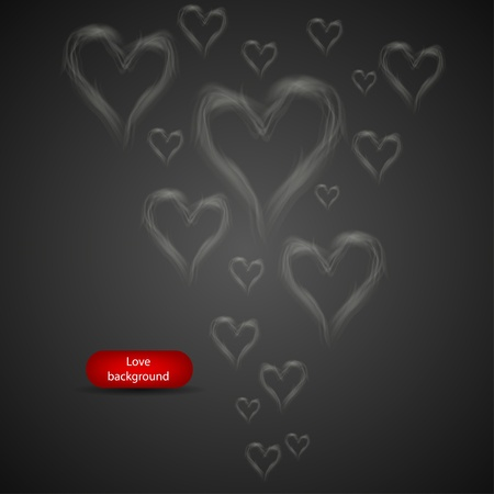 smoke in the form of heart. abstract background Vector