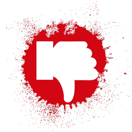 dislike in the form of spray. illustration Stock Vector - 12231700