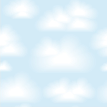 seamless clouds background.  Vector
