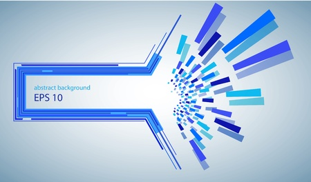 blue abstract background with place for your text Vector