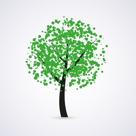 grass family: green tree Illustration