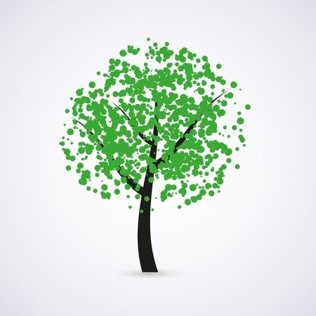 growing tree: green tree Illustration