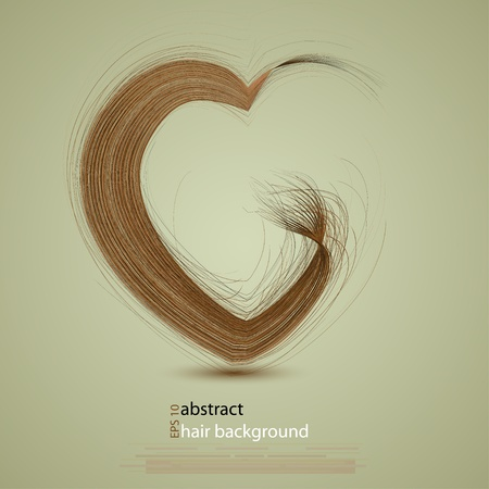 salon background: hair in the shape of a heart