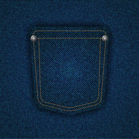 Jeans pocket background.  illustration.  Vector
