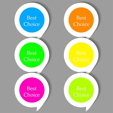 Vector bubble speech stickers set with place for your text Stock Vector - 12494529