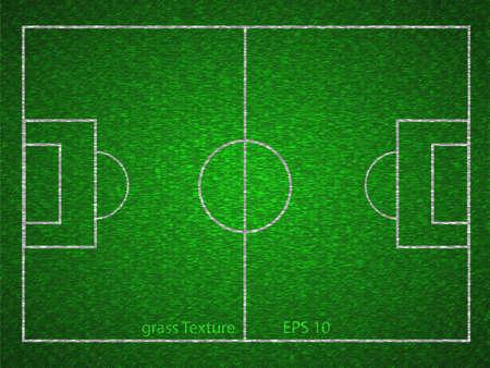 Vector soccer field Vector