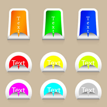 Vector stickers set with place for your text Vector