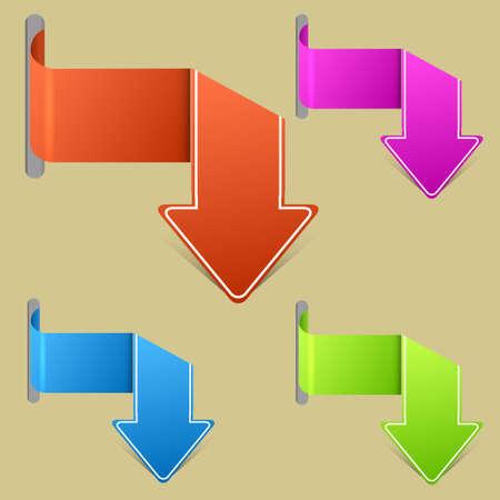 Vector creative arrow stickers set. Best choice. Vector