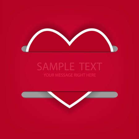 Heart background for love. Vector illustration. Eps 10 Stock Vector - 12494939
