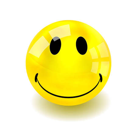 Vector smiley isolated on white. Eps 10 Vector