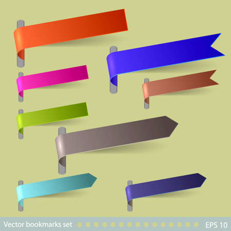 Vector bookmarks set. Easy to edit Stock Vector - 12494853