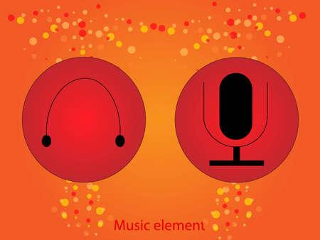 Vector music element Vector