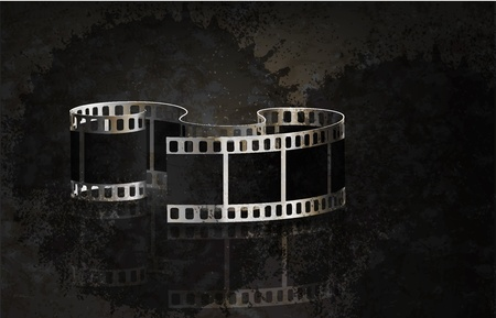 Vector film grunge background. Eps 10 Vector