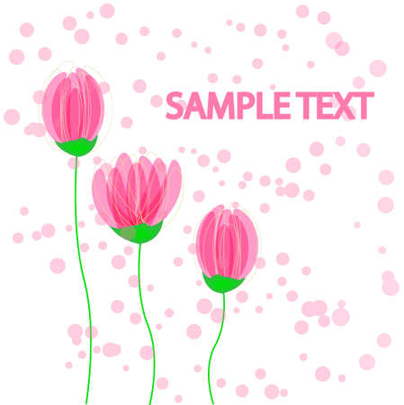 Vector flowers abstract background Vector
