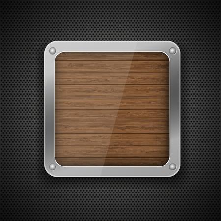 aluminum: Vector metal background