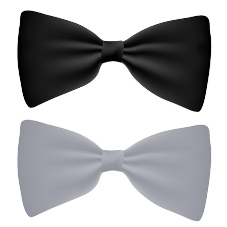 Vector black and white bow-tie isolated on white Vector