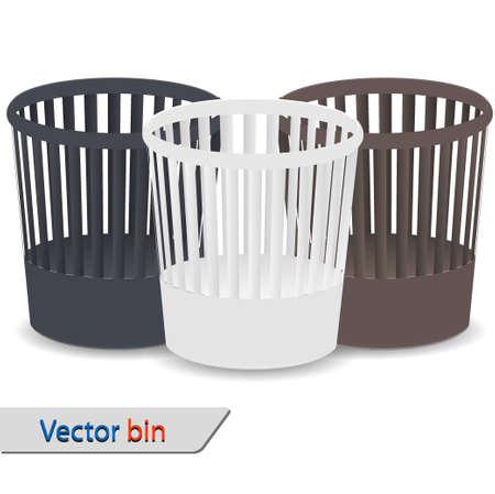 Vector bin set isolated on white Stock Vector - 12763494