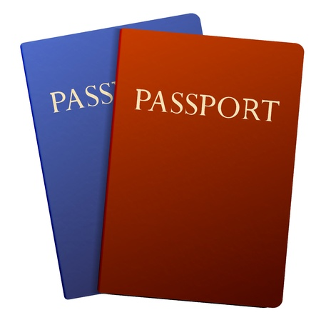 Vector passports isolated on white Vector