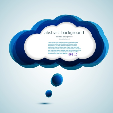 computer cloud: Vector glossy computer cloud. bubble speech. Easy to edit. Eps10