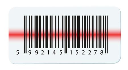codigos de barra: Código de barras Vector aislado en blanco Vectores